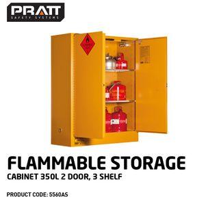 PRATT FLAMMABLE CABINET 350LTR 2 DOOR, 3 SHELF