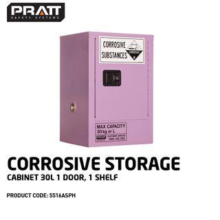 PRATT CORROSIVE CABINET 30LTR 1 DOOR, 1 SHELF