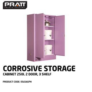 PRATT CORROSIVE CABINET 250LTR 2 DOOR, 3 SHELF