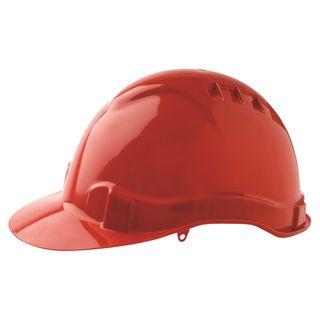HARD HAT VENTED V6 RED