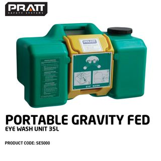 PRATT PORTABLE GRAVITY FED EYE WASH UNIT. 55 LTR