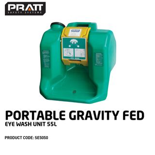 EYEWASH STATION PORTABLE GRAVITY FED 55L