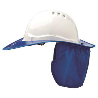 BRIM HARD HAT PLASTIC BLUE