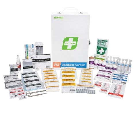 FIRST AID WORKPLACE RESPONSE KIT METAL CABINET 1-25 LOW RISK