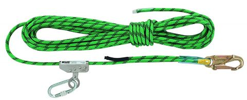 ANCHORAGE LINE 11mm KERNMANTLE W/TYPE 1 FALL ARREST ROPE ADJUST. 15M