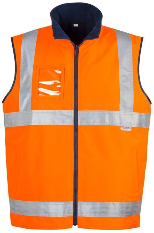 Syzmik Mens Hi Vis Lightweight Fleece Lined Vest