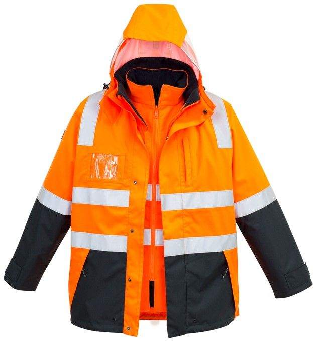 Syzmik Mens Hi Vis 4 in 1 Waterproof Jacket