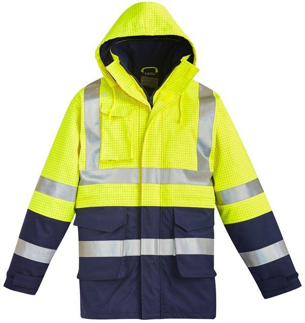 Syzmik Mens Fire Resistant ARC Rated Anti Static Waterproof Jacket