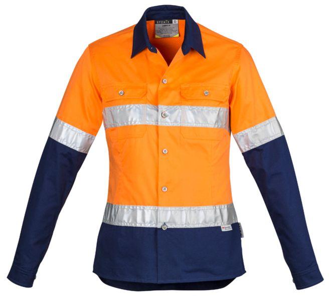 Syzmik Womens Hi Vis Spliced Industrial Shirt - Hoop Taped