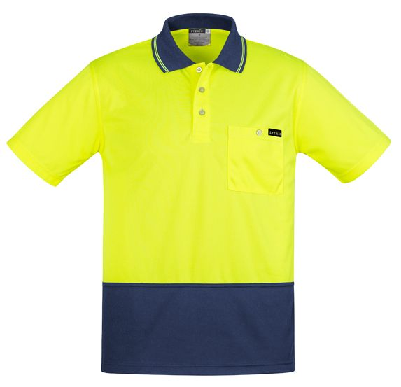 Syzmik Mens Comfort Back Short Sleeve Polo