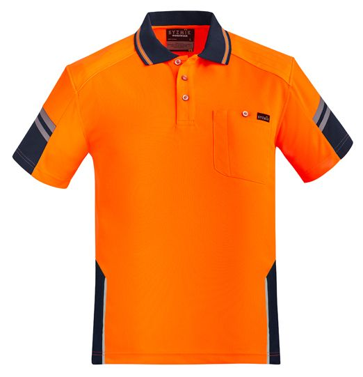 Syzmik Mens Reinforced Hi Vis Squad Short Sleeve Polo