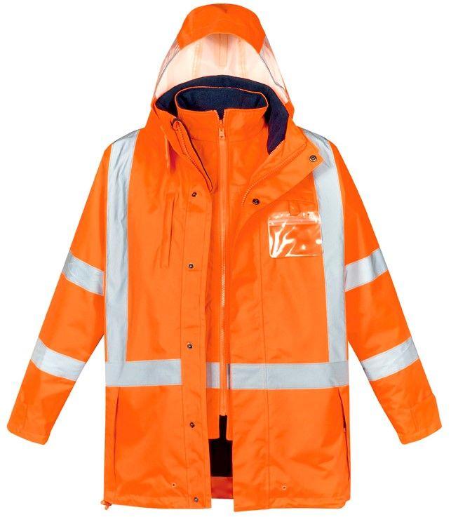 Syzmik Mens TTMC-W17 Hi Vis X Back 4 In 1 Waterproof Jacket