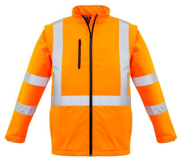 Syzmik Unisex Hi Vis 2 in 1 X Back Soft Shell Jacket