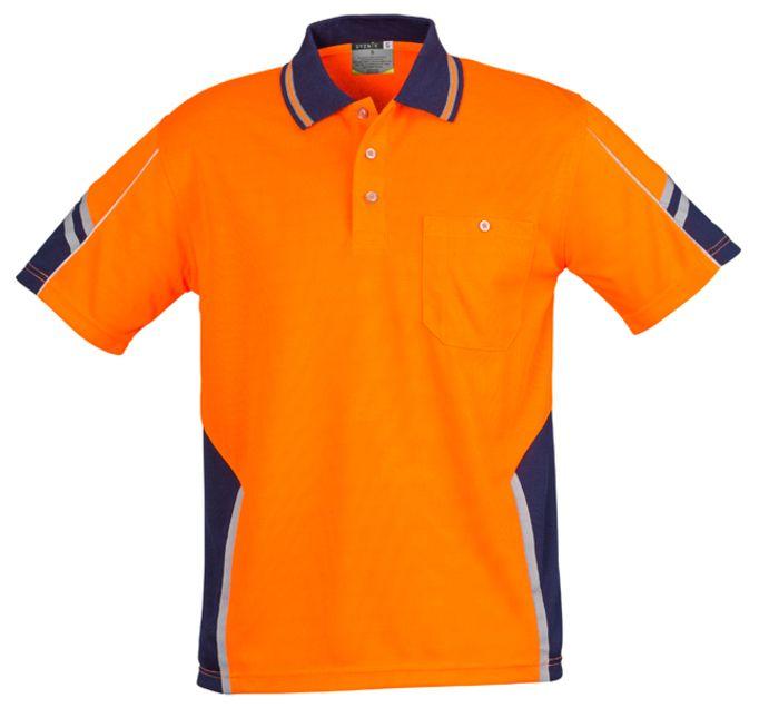Syzmik Mens Hi Vis Squad Short Sleeve Polo