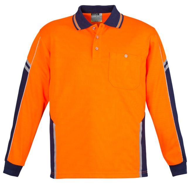 Syzmik Mens Hi Vis Squad Long Sleeve Polo