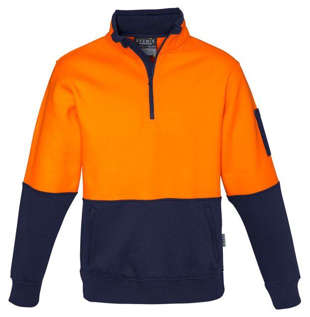 Syzmik Unisex Hi Vis Half Zip Pullover