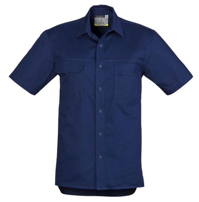 Syzmik Mens Light Weight Tradie Short Sleeve Shirt