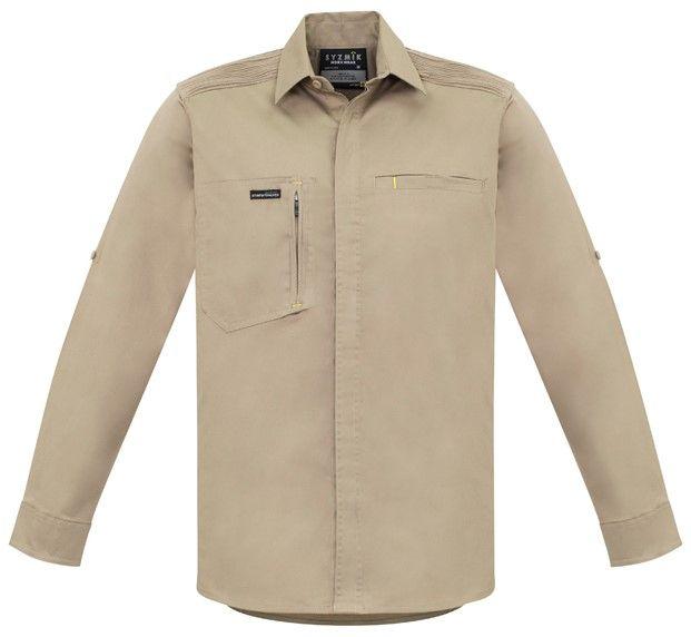 Syzmik Mens Streetworx Long Sleeve Stretch Shirt