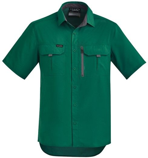 Syzmik Mens Outdoor Short Sleeve Shirt