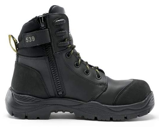 Steel Blue Torquay Nitrile EH Composite Toe Cap Ankle Lace-up Side Zip Boot