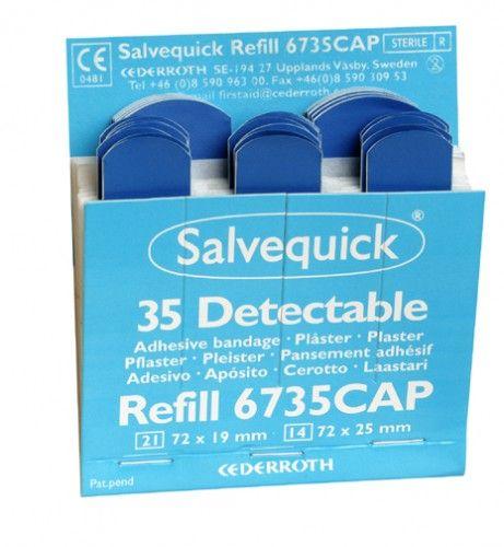 Salvequick Plaster Refill Detectable Blue Box 35