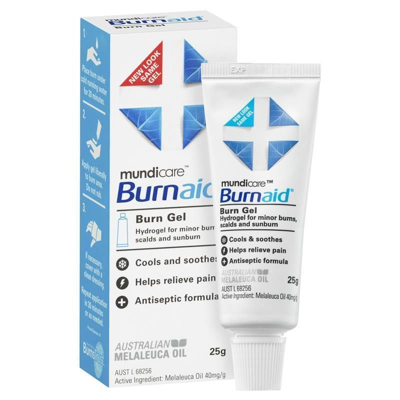 Mundicare Burnaid Burn Gel 25g