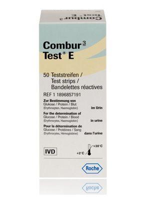 Roche Combur 3 Test E Strips Box 50