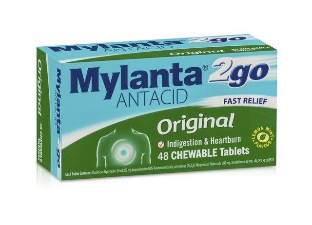 Mylanta Antacid Tablets Box 48