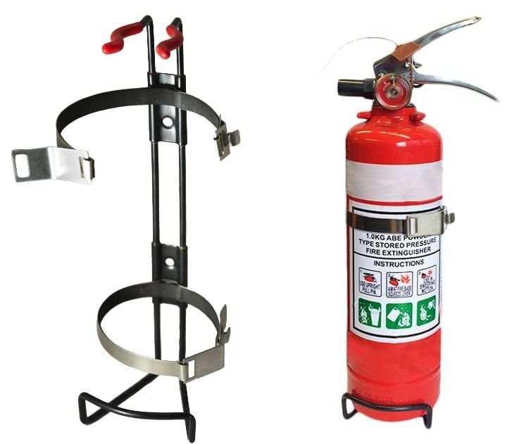 Flamefighter ABE Dry Powder Fire Extinguisher Complete With Double Strap Bracket 1kg ABE