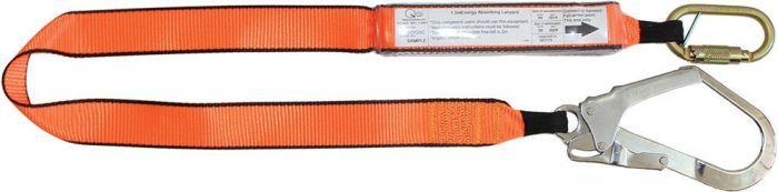 QSI 1.5m Single Leg Lanyard with Triple Action Carabiner & Scaffold Hook