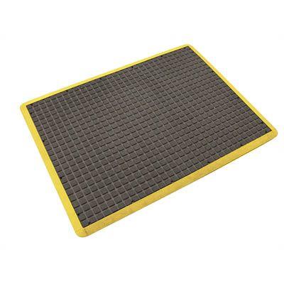 Air Grid Anti-Fatigue Mat Black/Yellow 0.9m x 0.6m
