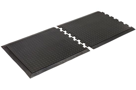 Slip Resistant Chequer-plate finish Link Mat End Piece