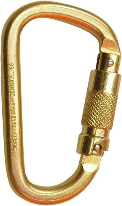 QSI Carabiner Steel Triple Locking - Offset Shape - 25KN