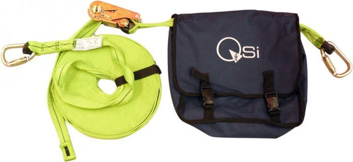QSI Horizontal Webbing Ratchet Anchorage Life Line with Carabiners