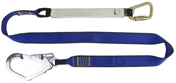 QSI Heavy Duty Single Leg Lanyard with Scaffolding Hook