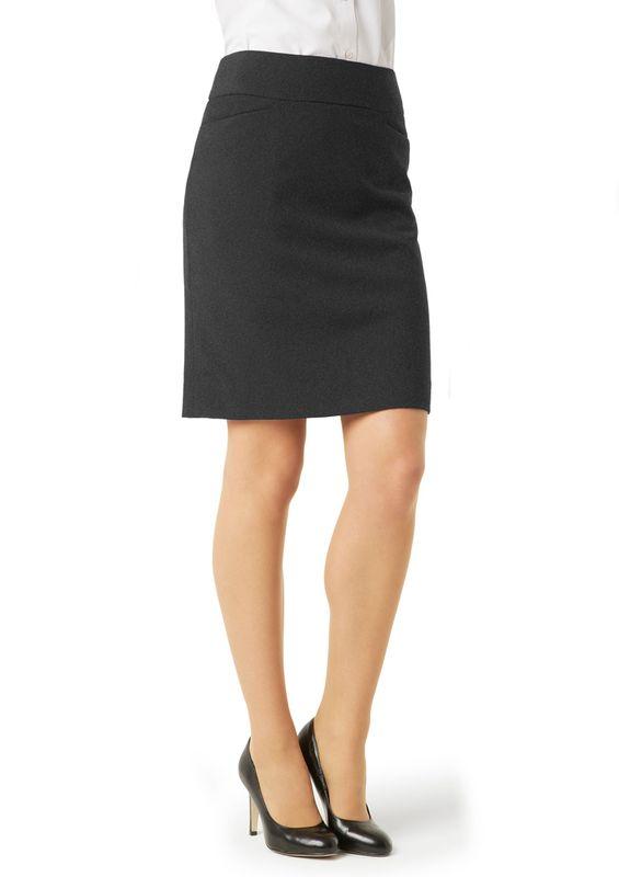Fashion Biz Ladies Classic Knee Length Skirt