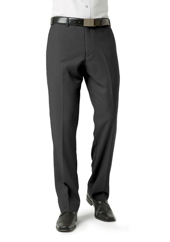 Fashion Biz Mens Classic Flat Front Pant
