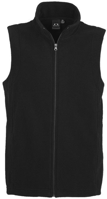 Fashion Biz Mens Plain Micro Fleece Vest
