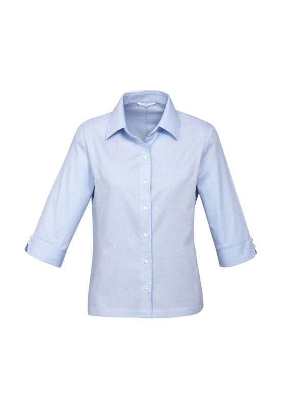 Fashion Biz Ladies Luxe 3/4 Sleeve Shirt
