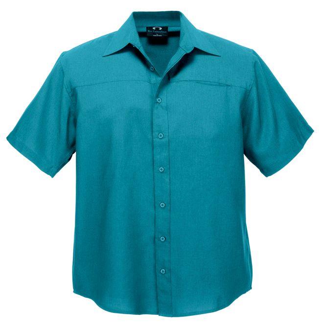 Fashion Biz Mens Plain Oasis Short Sleeve Shirt
