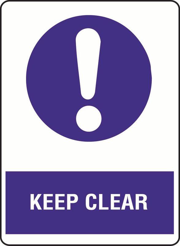 Keep Clear Sticker
