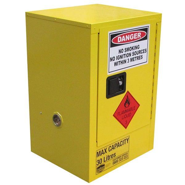 Flammable Storage Cabinet 1 Door, 1 Shelf  30L Class 3 Flammable Liquid