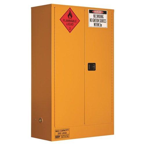 Flammable Storage Cabinet 250L 2 Door, 3 Shelf  250L Class 3 Flammable Liquid