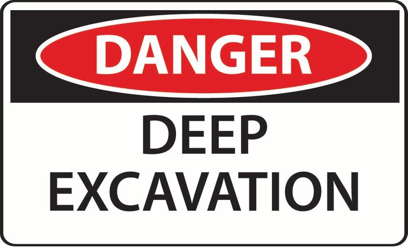 Danger Deep Excavation ACM