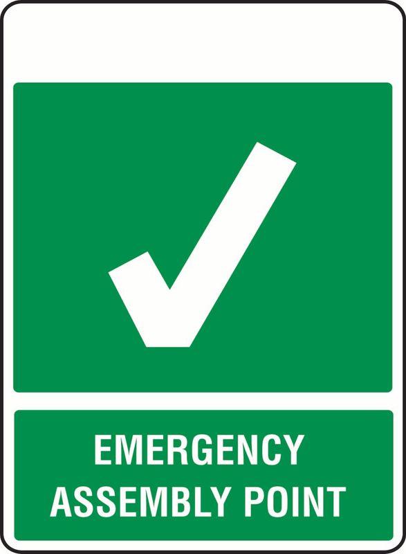Emergency Assembly Point (Tick) PVC