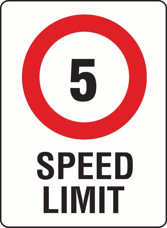 5 Speed Limit PVC