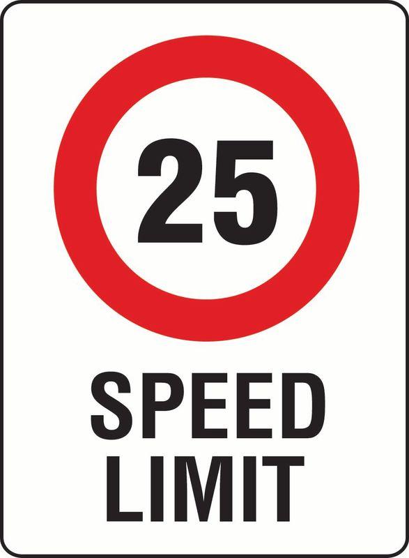 25 Speed Limit PVC