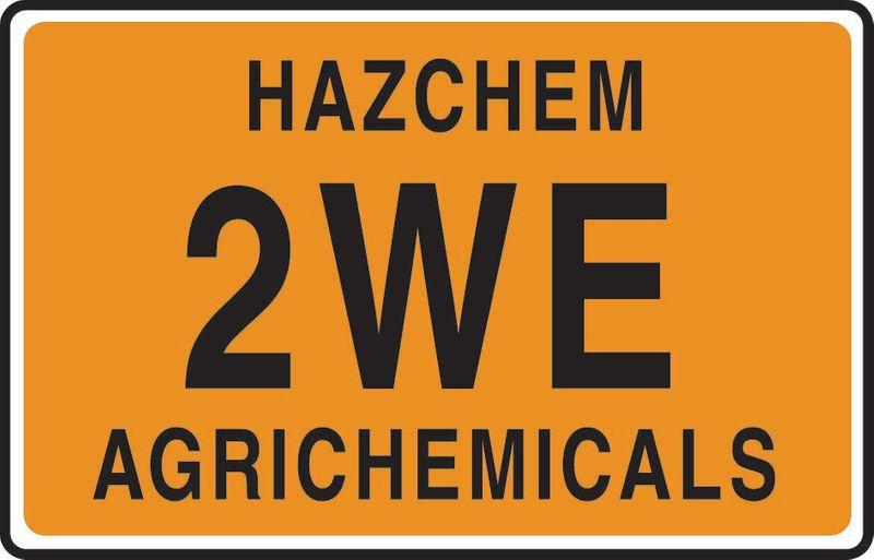 Hazchem 2We Agrichemicals Coreflute