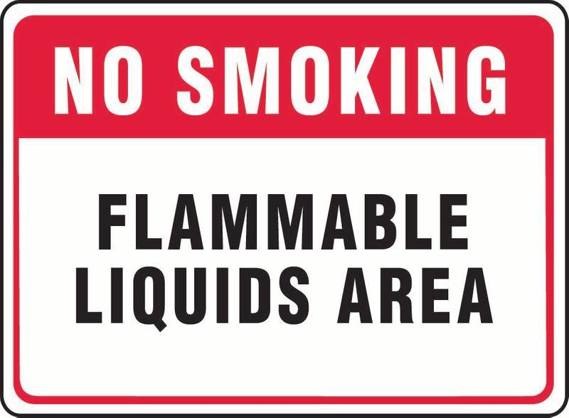 No Smoking Flammable Liquid Area Sticker