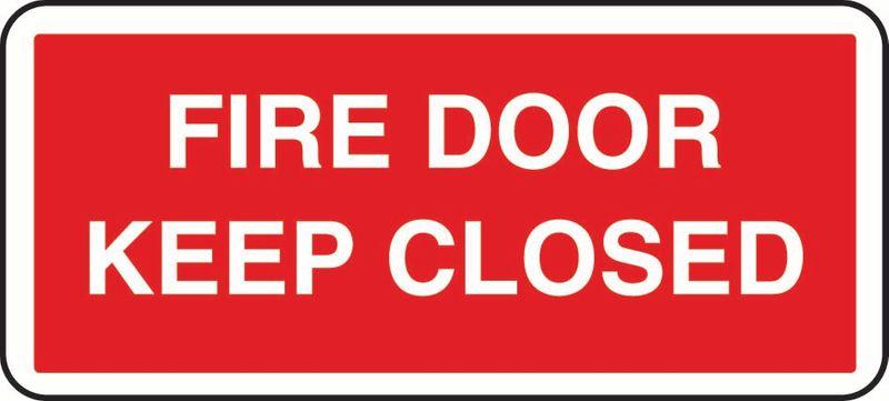 Fire Door Keep Closed Coreflute